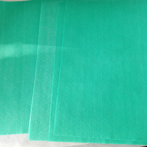 Colorful wood pulp laminated spunlace nonwoven fabric--green mesh