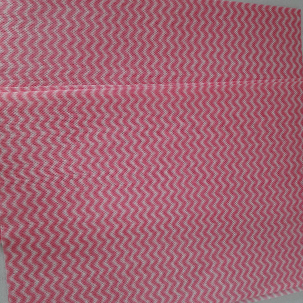 Mesh waved spunlace nonwoven fabric--red